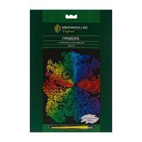Гравюра Greenwich Line голографическая Цветы - 29,5*21 см