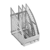 Лоток вертикальный OfficeSpace - Пластик - 3 секции - Серый