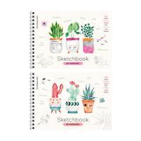 Скетчбук-блокнот для акварели ArtSpace Cute plants - А5 - 20 листов