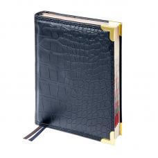 Ежедневник датированный Delucci - А4 - 184 листа - Черный - Золотой срез
