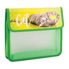 Папка для тетрадей ArtSpace Питомцы Cat - 2 отделения - А5 - Пластик - На липучке