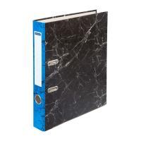 Папка-регистратор OfficeSpace - 50 мм - Черный мрамор - Синий корешок