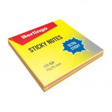 Липкий блок Berlingo Ultra Sticky - 75*75 мм - 100 листов