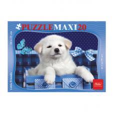 Пазл maxi Hatber Белый щенок - 20 элементов