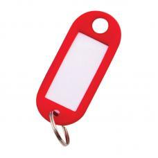 Брелок-бирка для ключей OfficeSpace - Красный - 10 шт