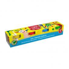 Краски пальчиковые ArtBerry с алоэ вера - 4 цвета - 140 мл