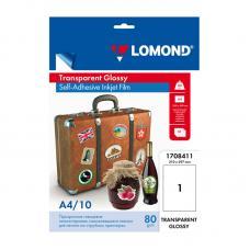 Самоклеящаяся бумага Lomond - А4 - 10 листов - Прозрачная