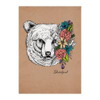 Скетчпад Весенний медведь - А5 - 40 листов