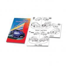 Тетрадь - раскраска Машины - А4 - 16 листов