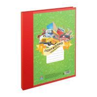 Папка-портфолио ArtSpace на 2-х кольцах - 10 файлов - Красная