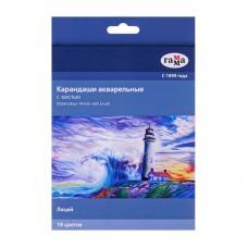 Карандаши акварельные Гамма Лицей - 18 цветов - 1 кисть