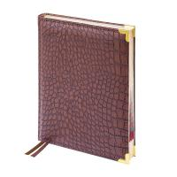 Ежедневник датированный Delucci - А4 - 184 листа - Коричневый - Крокодиловая кожа