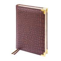 Ежедневник недатированный Delucci - А5 - 160 листов - Коричневый - Крокодиловая кожа