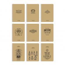 Тетрадь Школярик на спирали - Крафт-обложка - А5 - 96 листов - Рис 6071 - Клетка