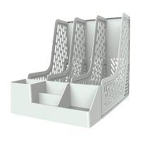 Лоток вертикальный Deli - Пластик - 3 секции - Серый