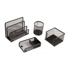 Настольный набор Berlingo Steel Style - 4 предмета - Металл - Черный