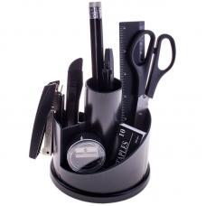 Набор настольный OfficeSpace - 12 предметов - Пластик - Черный