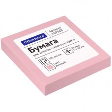 Блок для заметок OfficeSpace - 50*50 мм - 100 листов - Розовый