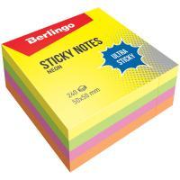 Блок для заметок Berlingo - 50*50 мм - 240 листов - Неоновые цвета