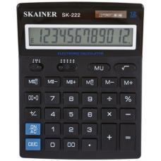 Калькулятор Skainer SK-222 - 12-разрядный - Черный