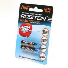 Батарейка аккумуляторная Robiton - ААA - 1,2В - 1100 мАч