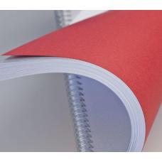 Обложка для перфопереплета - А4 - Картон - 100 листов - Красная