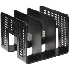 Лоток вертикальный черный - сортер - 3 отделения