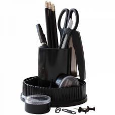 Канцелярский набор OfficeSpace Карусель - 12 предметов - Вращающийся - Черный