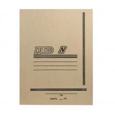 Папка-скоросшиватель картонная Альбертин - А4 - 0,8 мм - Серая