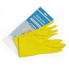 Перчатки латексные Komfi - С хлопковым напылением - XL - Желтые