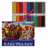 Пластилин восковой Фантазия - 18 цветов - 315 г
