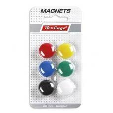 Магниты для доски Berlingo - 20 мм - 6 шт - Разноцветные