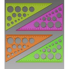 Треугольник Стамм ТК11 - 19 см - 60° - Окружности