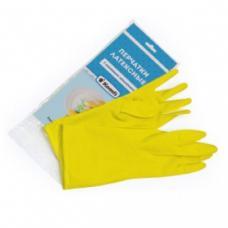 Перчатки резиновые KOMFI - М размер - Желтые