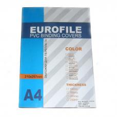 Обложка для перфопереплета Eurofile - А4 - 150 мкм - Прозрачная - 100 шт