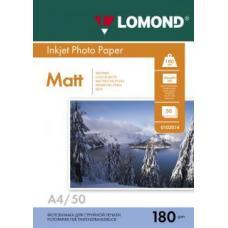 Фотобумага Lomond - А4 - Матовая - Односторонняя - 180 г/кв. м - 25 листов