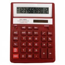 Калькулятор настольный Citizen - SDC-888XRD - 12 разрядов - Красный