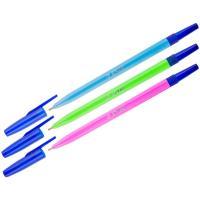 Ручка шариковая Стамм  - 0,7 мм - Флуоресцентный корпус - Синяя