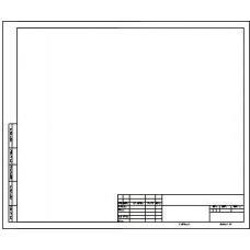 Форматка чертежная - А3 - 240 г - Горизонтальная рамка