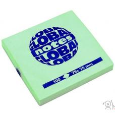 Стикеры Global Notes - 75*75 мм - 80 листов - Зеленый неоновый