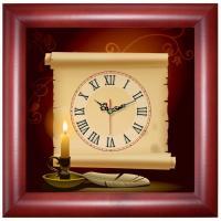 Часы настенные Часпром - Деревянные - Коричневые