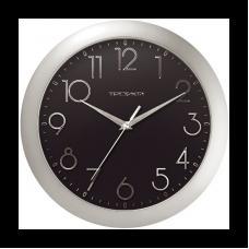 Часы настенные Часпром - Черный и металлик