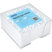 Блок для записей OfficeSpace - Белый - 9*9*4,5 см - Пластиковый бокс