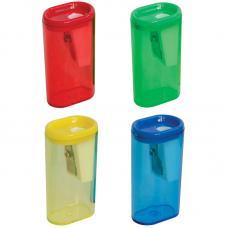 Точилка пластиковая - 1 отверстие - контейнер