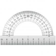 Транспортир металлический ArtSpace - 10 см - 180°