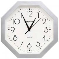 Часы настенные Тройка - 290 мм - Восьмиугольные - Серебро