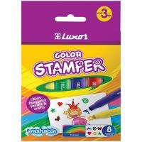 Фломастеры-штампы Luxor Color Stamper - 8 цветов - Смываемые