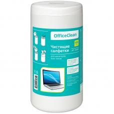 Туба с чистящими салфетками OfficeClean - Для мониторов всех типов - 100 штук