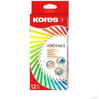 Набор цветных  карандашей Kores Kromas - Трехгранные - 12 цветов