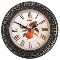 Часы Тройка - 300 мм - Белый/черный